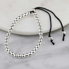 Silver Friendship Bracelets Black