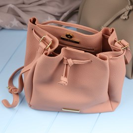 Katie Loxton Chloe Handbag In Soft Grey Or Blush Pink