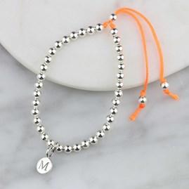 Personalised Silver Friendship Bracelet