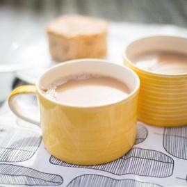 Contemporary Style Mug In Turmeric