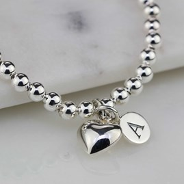 Personalised Children's Silver Heart Bracelet