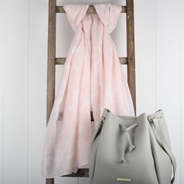 Katie Loxton 'Live Joyfully' Designer Blush Pink Scarf