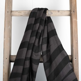 Katie Loxton Designer Charcoal Black Striped Scarf