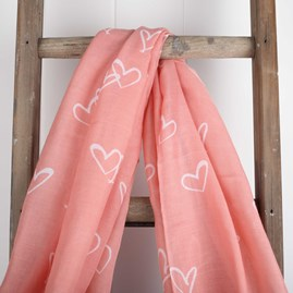 'Love Is In The Air' Designer Blush Pink Scarf