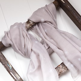 Katie Loxton 'Make Today Magical' Designer Pale Grey Scarf