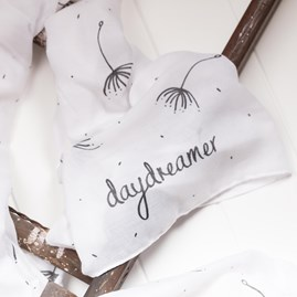 'Daydreamer' Designer Soft White Scarf