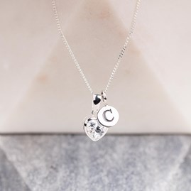Personalised Sparkly Heart Charm Pendant