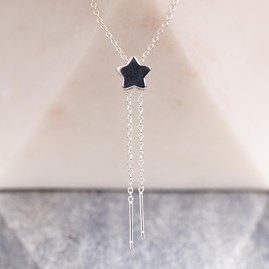 Sliding Star Double Drop Pendant