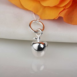 Silver Apple Pendant