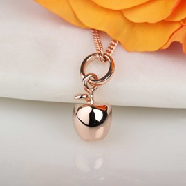 Rose Gold Apple Pendant
