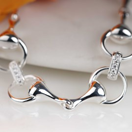 Solid Silver Sparkly Bit Bracelet