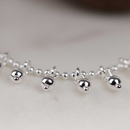 Solid Silver Charmed Anklet