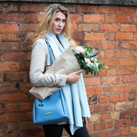 Katie Loxton Powder Blue Designer Bucket Bag