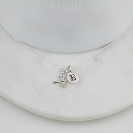 Personalised Miniature Dragonfly Necklace
