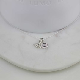 Personalised Miniature Silver Bee Necklace