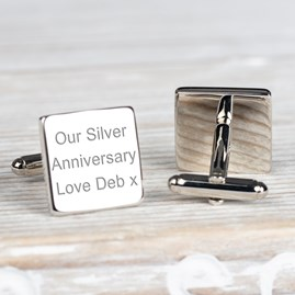Personalised Special Date And Message Cufflinks
