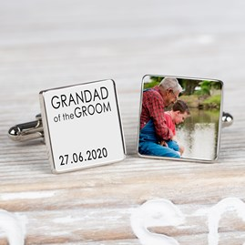 Personalised Wedding Party Photo Cufflinks