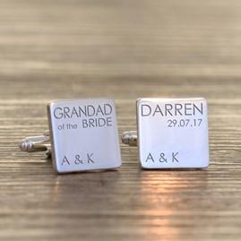 Personalised Wedding Role Silver Cufflinks