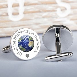 Personalised 'Of All The Daddy's…' Silver Cufflinks