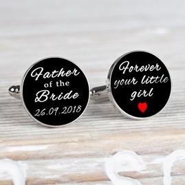 Personalised 'Forever Your Little Girl' Cufflinks