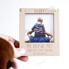Personalised 'The Day We Met' Hanging Photo Frame