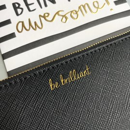 Katie Loxton Personalised 'Be Brilliant' Secret Saying Clutch Bag