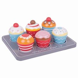 Wooden Muffin Tray Play Food