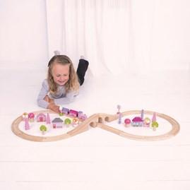 Wooden Fairy Figure of Eight Train Set