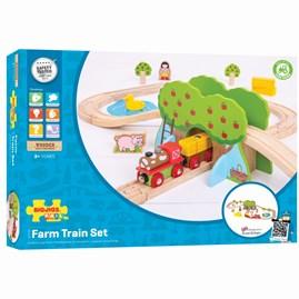 Wooden Farm Train Set