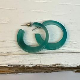 Open Circle Resin Hoop Earrings