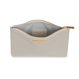Katie Loxton Personalised Pebble Perfect Pouch In Stone