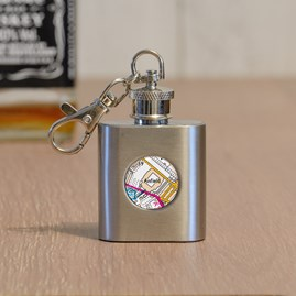 Personalised Football Hip Flask And Keyring