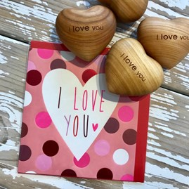 'I Love You' Wooden Heart