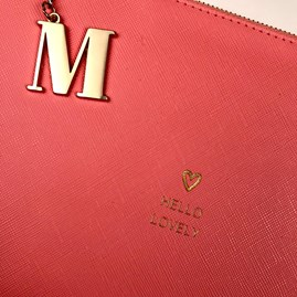 Katie Loxton Personalised 'Hello Lovely' Perfect Pouch In Coral