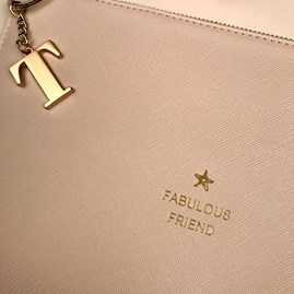 Katie Loxton Personalised 'Fabulous Friend' Perfect Pouch In Pink