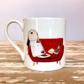 'Kids In Bed' Bone China Mug