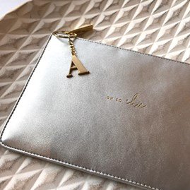 Katie Loxton Personalised 'Oh So Chic' Silver Perfect Pouch