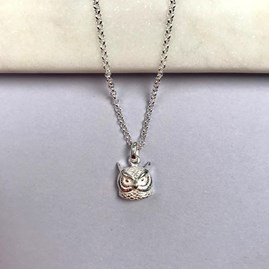 Personalised Solid Silver Owl Necklace