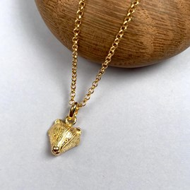 Personalised 18ct Gold Badger Necklace