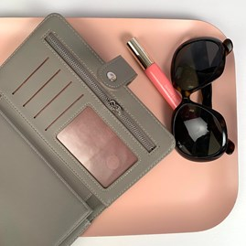 Purse And Document Holder In Grey