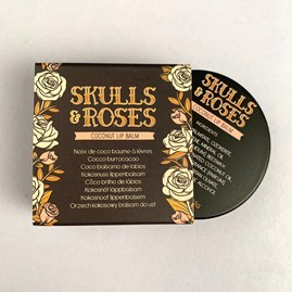 Skulls and Roses Lip Balm in a Tin