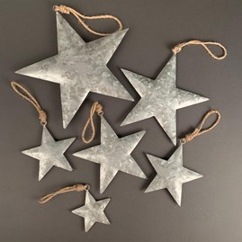 Silver Star Hanging Christmas decoration