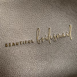 Katie Loxton Personalised 'Beautiful Bridesmaid' Bridal Perfect Pouch Gift Set
