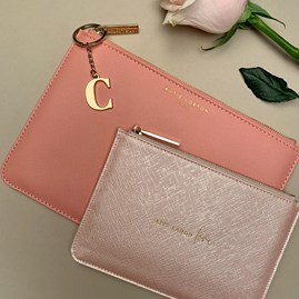 Katie Loxton Personalised 'Live Laugh Love' Perfect Pouch Gift Set