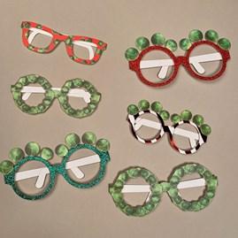 Festive Sprout Glasses 6pk