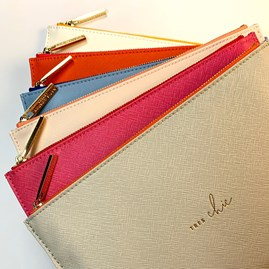 Katie Loxton Personalised 'Bag Of Tricks' Colour Pop Perfect Pouch In Orange