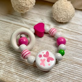 Pink Butterfly Rattle