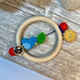 Blue Bird Ring Rattle