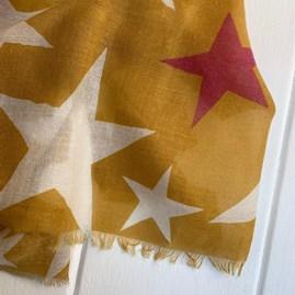 Mustard Scarf With Stars