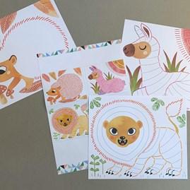 Set Of 15 Colouring Sheets